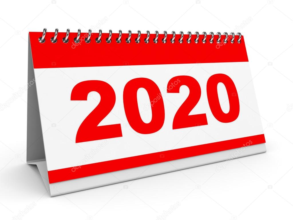 calendario 2020 — Fotos de Stock © iCreative3D #68010555