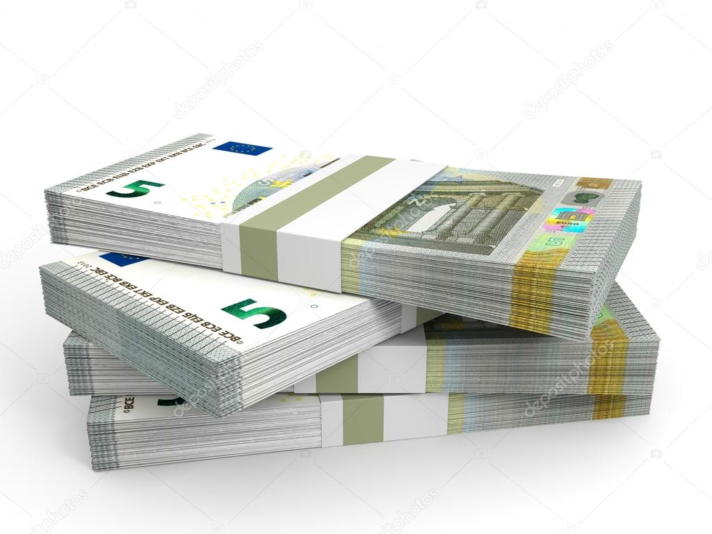 Stacks Of Money Five Euros Stock Photo C ICreative3D 68066639