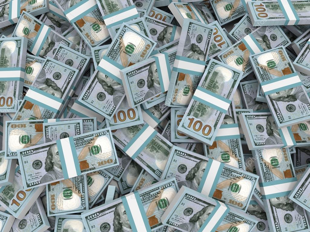 Stacks Of Money New One Hundred Dollars Fotos De Stock
