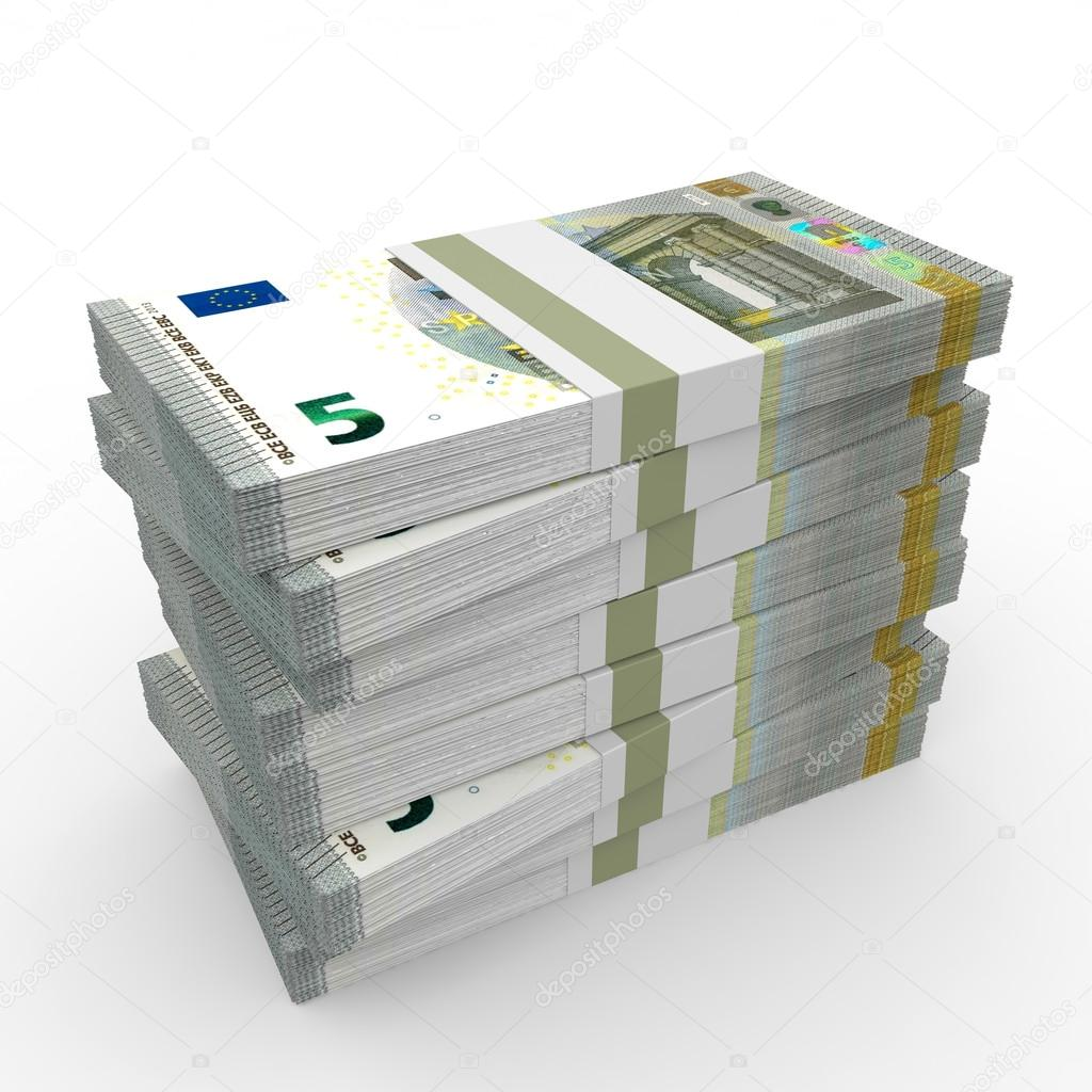 Stacks Of Money Five Euros Stock Photo C ICreative3D 68075971