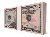 Balíček bankovek. Padesát dolarů.