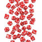 Fényképek Kedvezmény. Piros kocka.