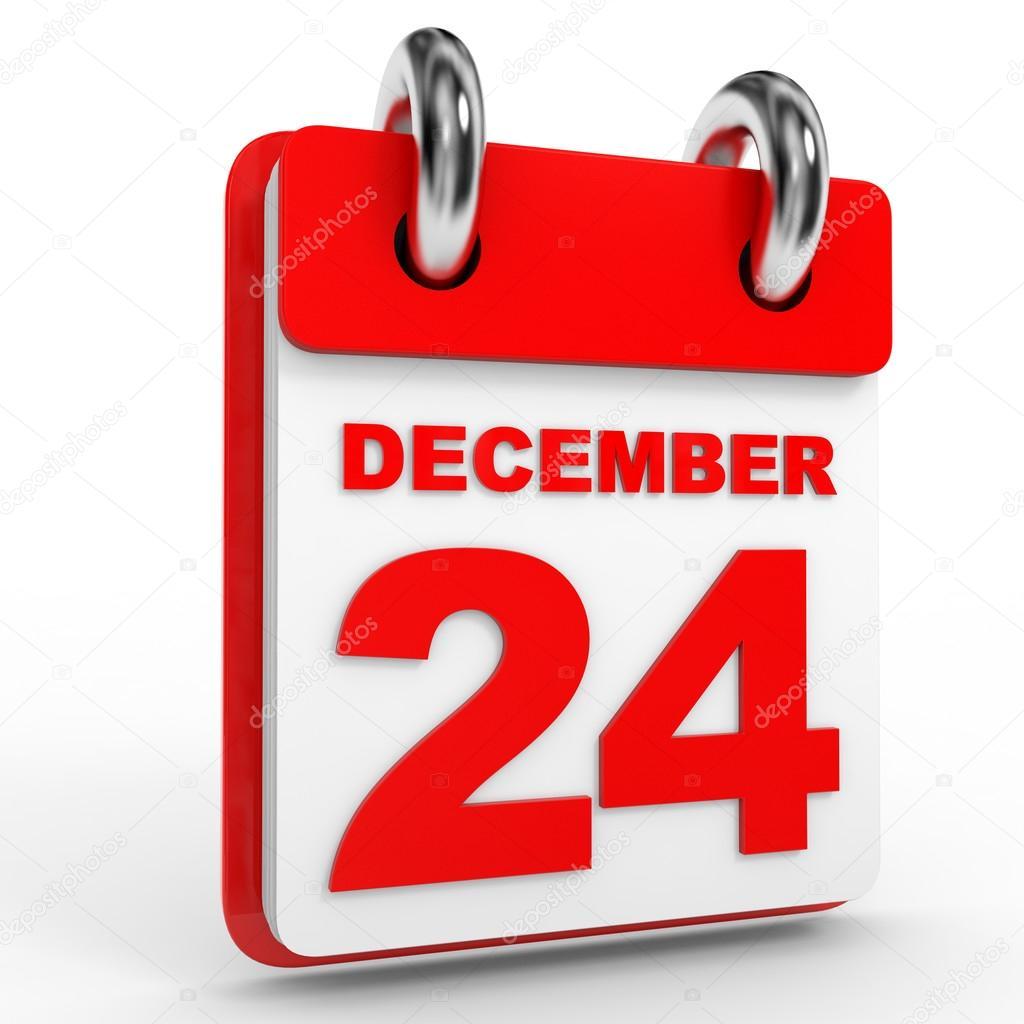 calendario del 24 de diciembre sobre fondo blanco fotos de stock icreative3d 95749546. Black Bedroom Furniture Sets. Home Design Ideas