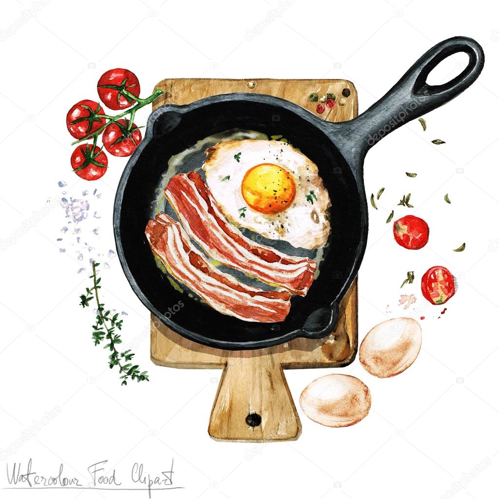 Watercolor Food Clipart