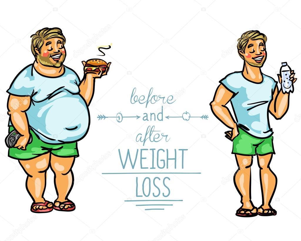 perder peso dibujos animados