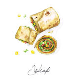 Fotografie Wrap - Watercolor Food Collection