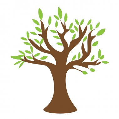 tree casts a shadow, a place for text, vector