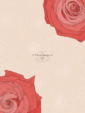 Background with beautiful roses