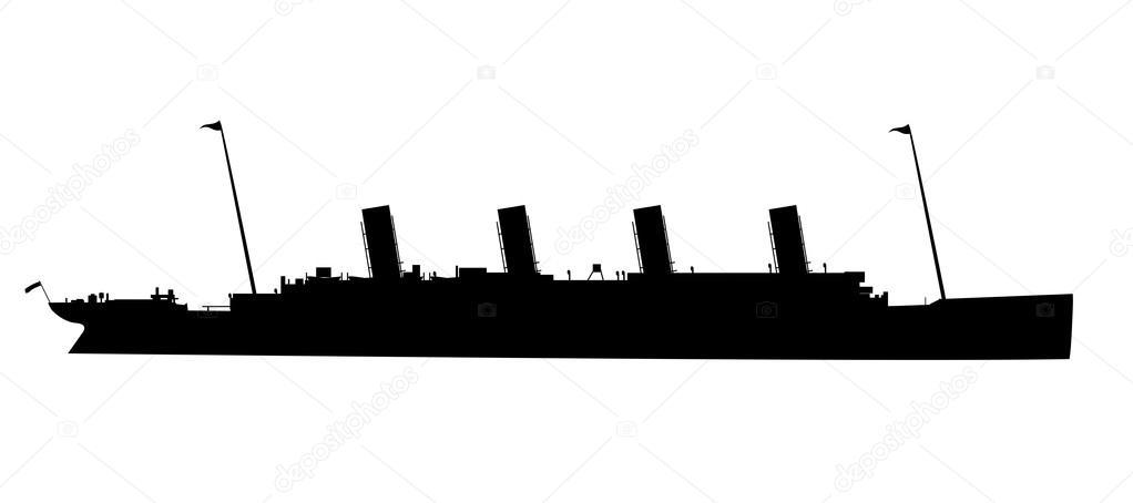 La Silhouette del Titanic — Vettoriali Stock © BigAlBaloo ...