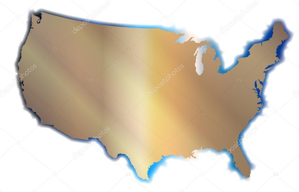 Cartina Muta Degli Stati Uniti.Cartina Muta Degli Stati Uniti Vettoriali Stock