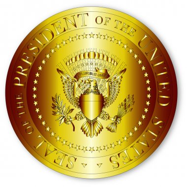 Presedent Seal In Gold