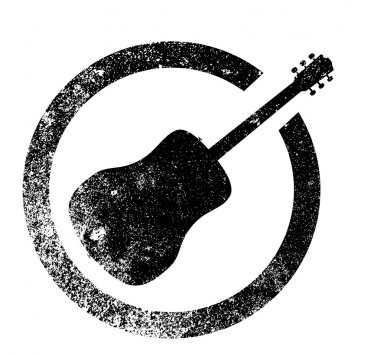 Acoustic Guitar Ink Stamp