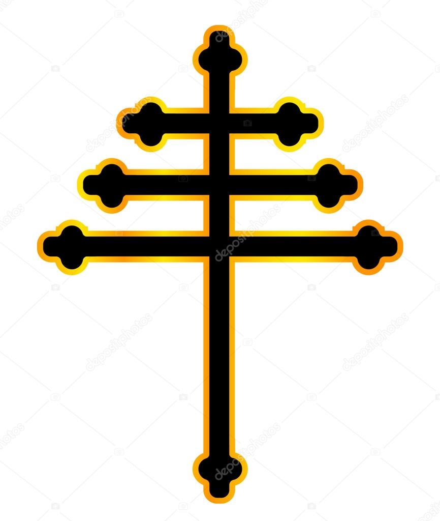 Maronite Christian Cross Stock Vector Bigalbaloo 121381806