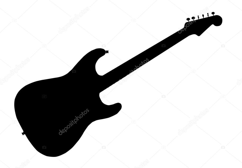 rock guitar silhouette stock vector bigalbaloo 122489354