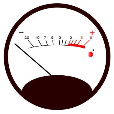 Round VU Meter No Signal