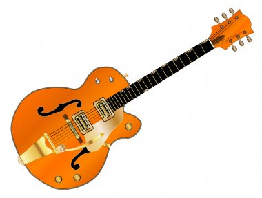 Orange Country and Western Guitar