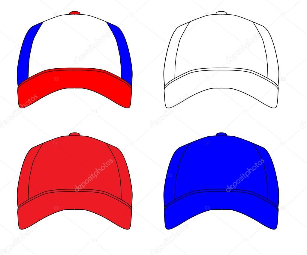 153ce09c Set Of 4 Baseball Caps — Stock Vector © BigAlBaloo #123907280