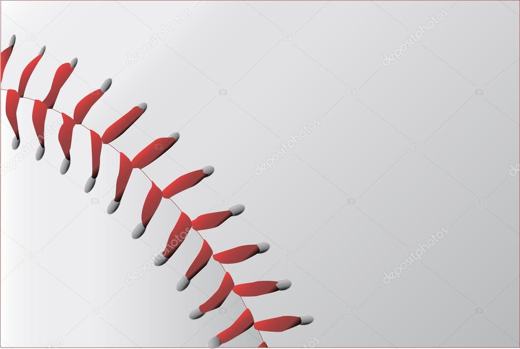 Vector: Costuras De Pelota De Beisbol