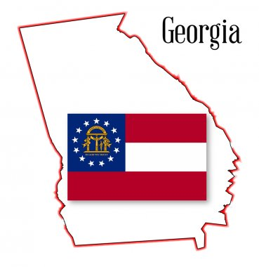 Georgia State Map and Seal