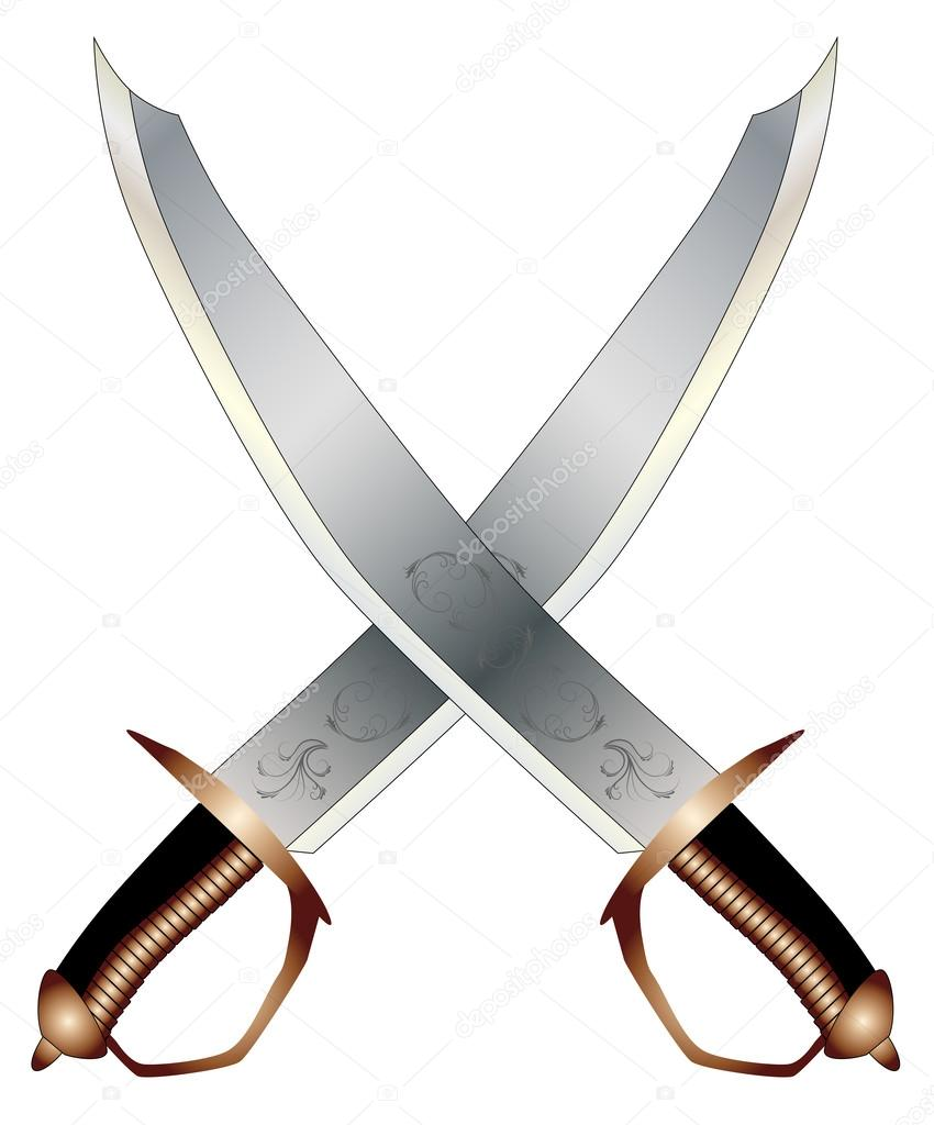 Sabres crois s image vectorielle bigalbaloo 58488099 - Dessin de sabre ...