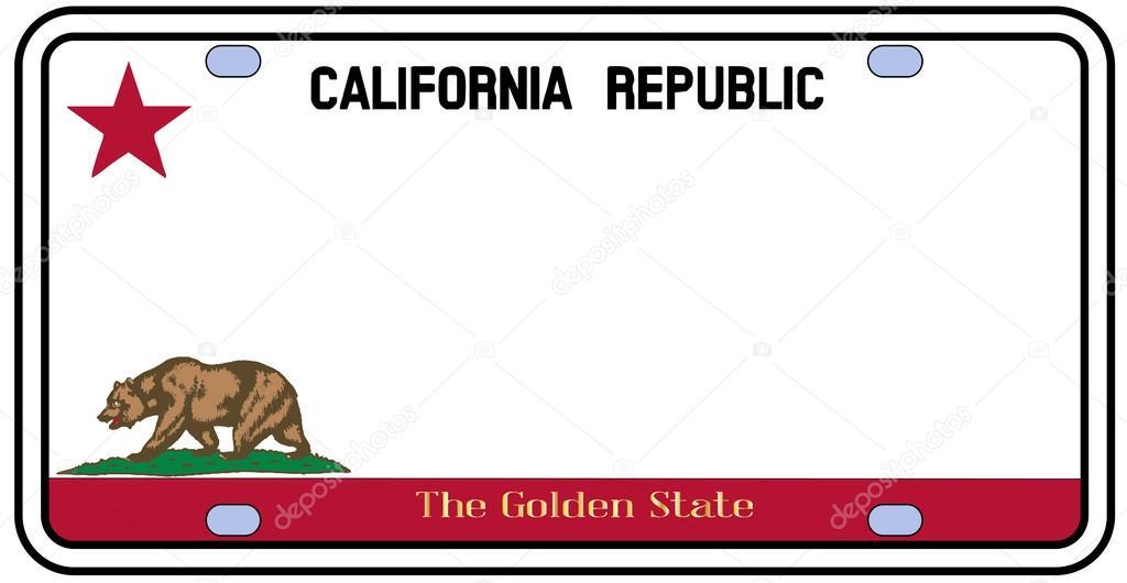 matrícula de California — Archivo Imágenes Vectoriales © BigAlBaloo ...