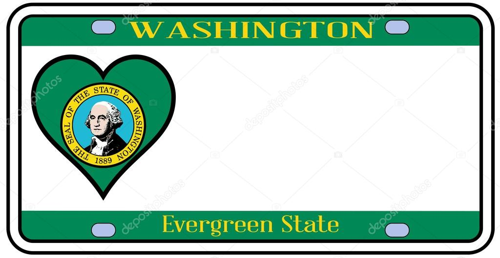 Placas del estado de Washington — Vector de stock © BigAlBaloo #61421459