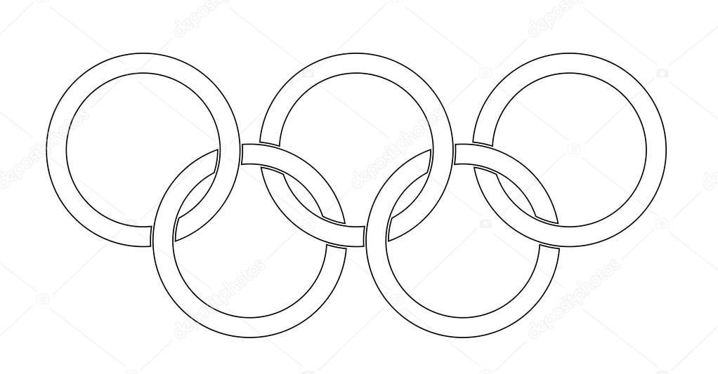 олимпийские кольца шаблон раскраска этом заслуга