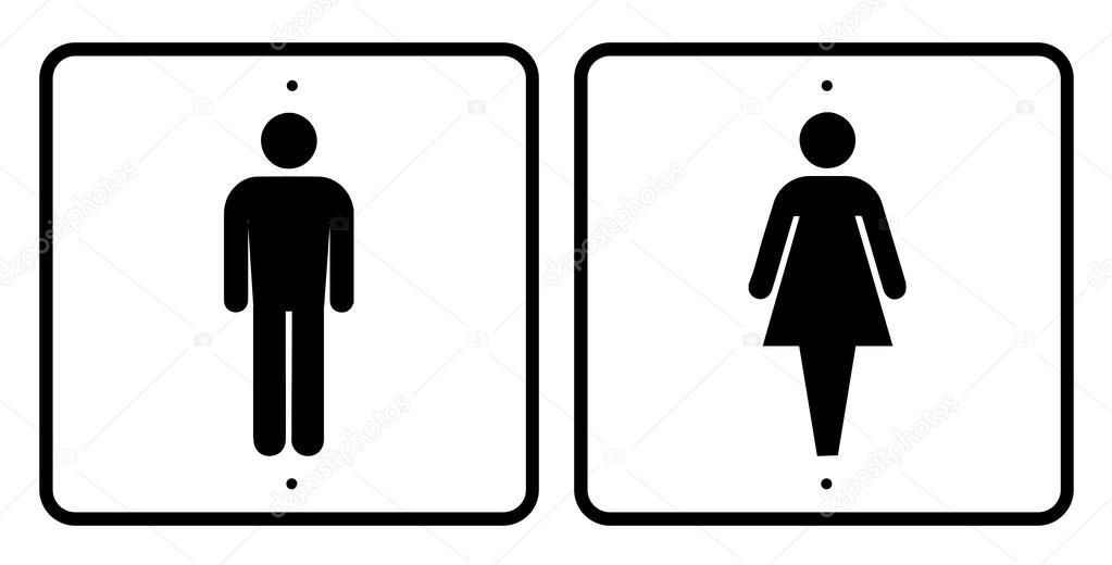 Man woman sign