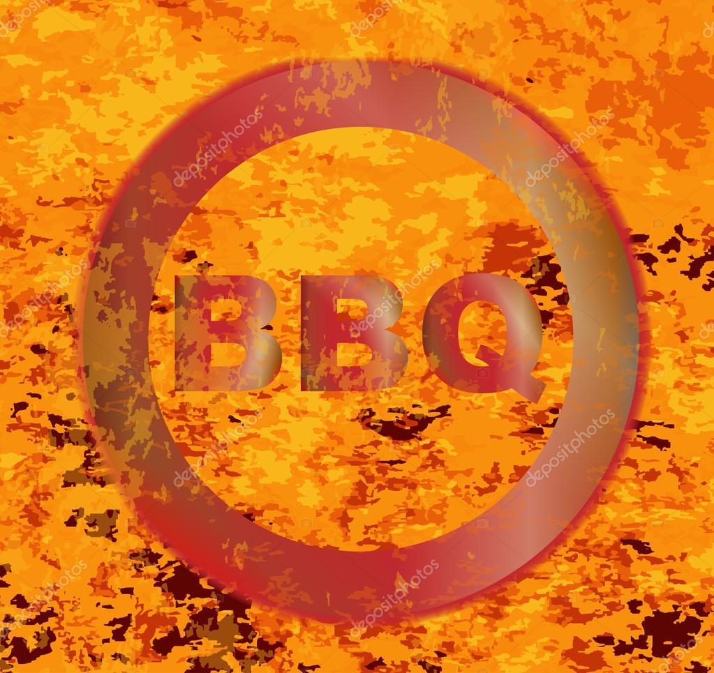 Inferno Em Chamas Cool marca de churrasco quente vermelho — vetores de stock © bigalbaloo