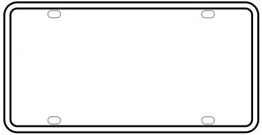 Blank License Plate Border