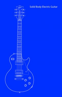 Solid Body Electric Guitar Blueprint