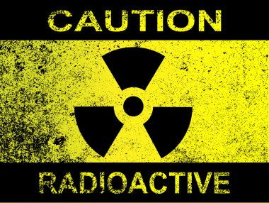 Caution Radioactive Sign