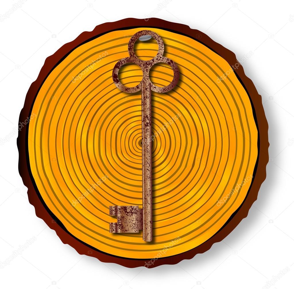 Crochet de clé bas