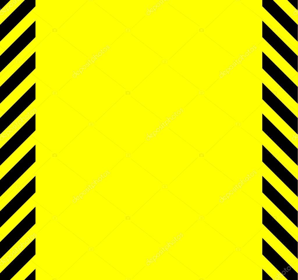 Fondo de advertencia de color amarillo y negro — Archivo