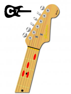 The Guitar Chord Of C Seven
