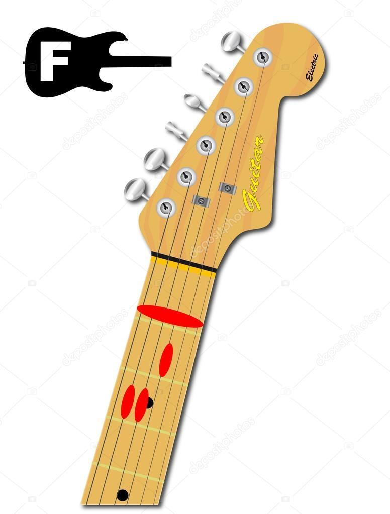 The Guitar Chord Of F Major Stock Vector Bigalbaloo 93561160