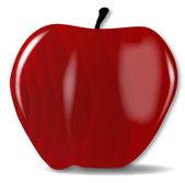 Dřevěné červené jablko