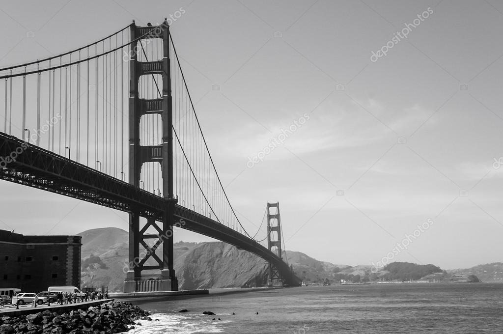 Photos Golden Gate Bridge Black And White Golden Gate