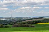 Skyline von Chemnitz in Ostdeutschland