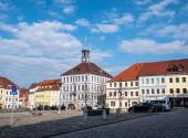 Skyline von Bischofswerda in Sachsen