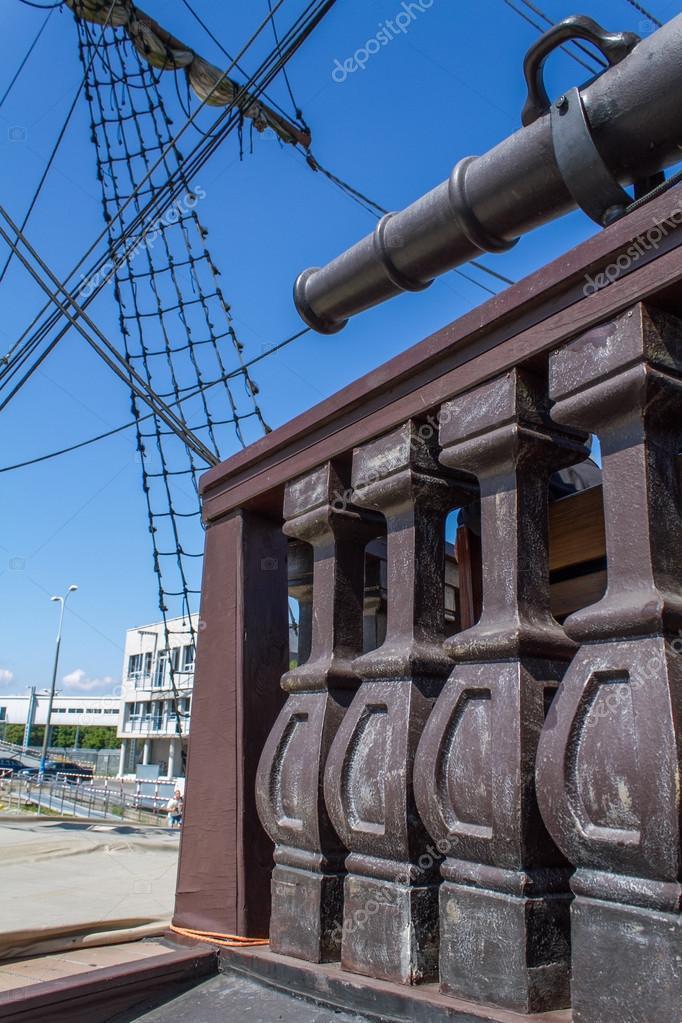 Rigging of old sailing ship