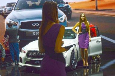 Moscow International Automobile Salon Infinity Luxury Desire
