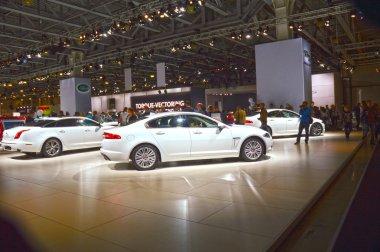 White Jaguar Luxury Shine Moscow International Automobile Salon