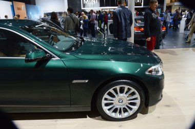 BMW fifth series Celadon Color. Moscow International Automobile Salon Shine