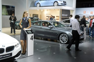 Moscow International Automobile Salon BMW White, Blue, Metalic Color
