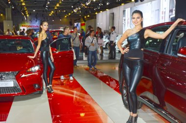 Lexus Red cars Traffic Shine Moscow International Automobile Salon