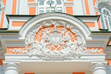 Coat of arms symbols Big Stone Greenhouse Kuskovo Moscow Russia
