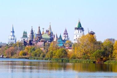The Kremlin in Izmailovo River Golden Autumn