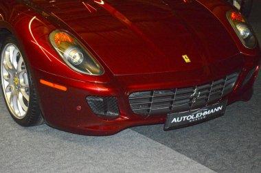 Ferrari cherry color in the showroom