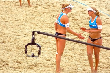 2015 Moscow Gland Slam Tournament Beach Volleyball Women Team Netherlands. The second place of the tournament